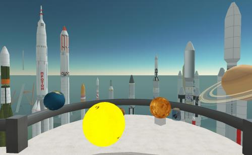 Second Life - Solar System Simulation: Taken in the Space Museum in Second Life.