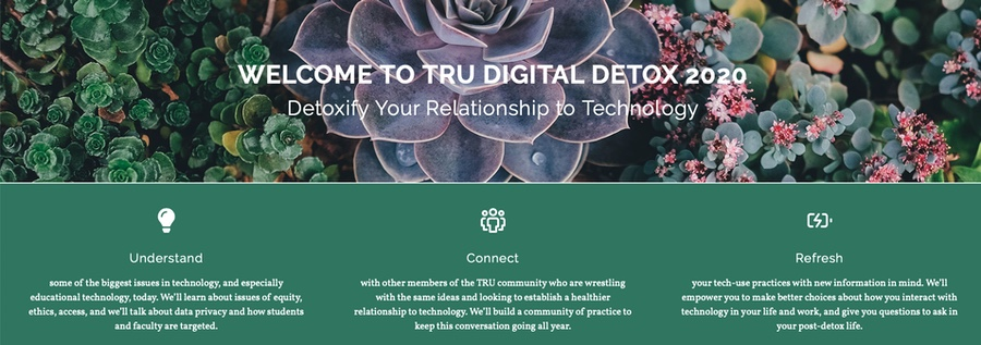 Joining the TRU Digital Detox program