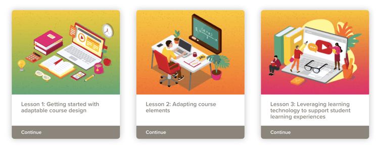 adaptable courses module