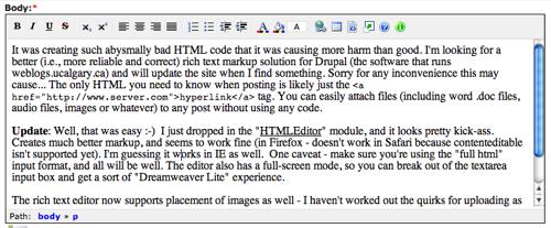 HTMLArea in drupal