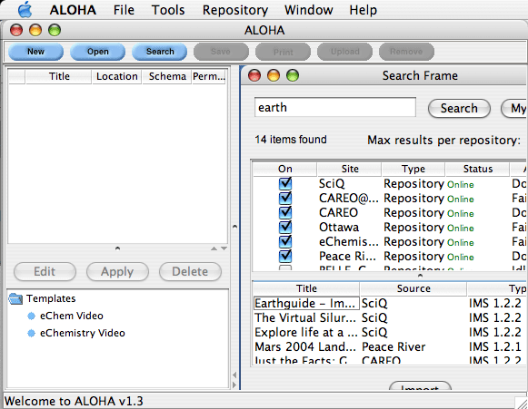 ALOHA 1.3 Application on MacOSX