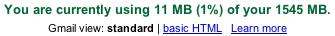 GMail Account Status, April 1, 2005