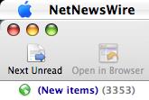 NetNewsWire unread items