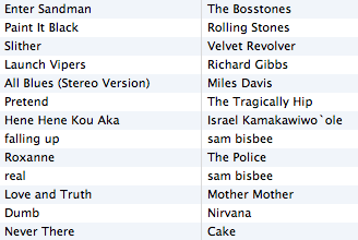 Morning Playlist - 2007/06/08