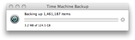 Time Machine initial progress bar