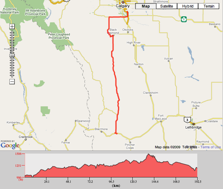 Ride to Conquer Cancer route
