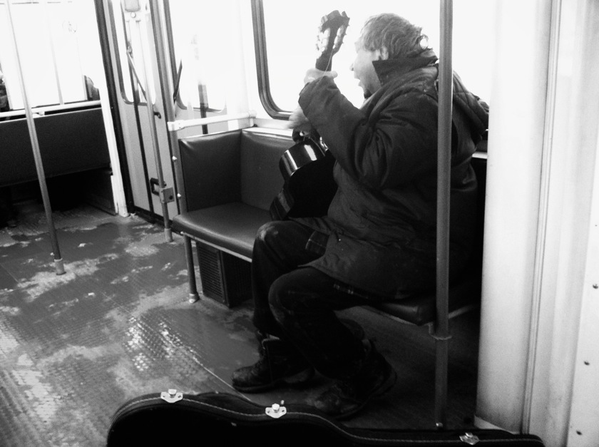 Train guitar dude
