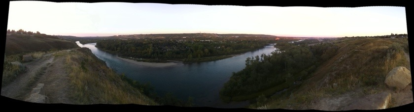 morning over the bow river