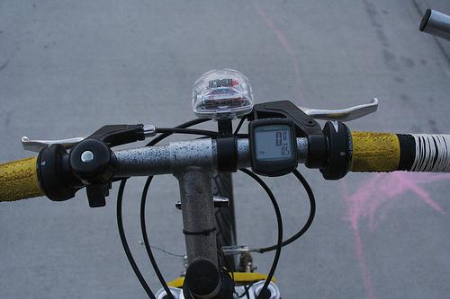 Starting the bike ride again