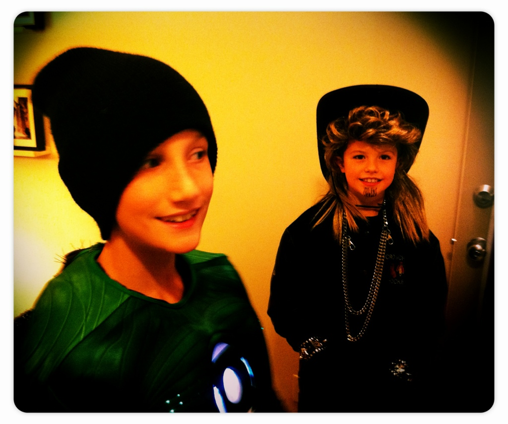Green lantern and billy the exterminator