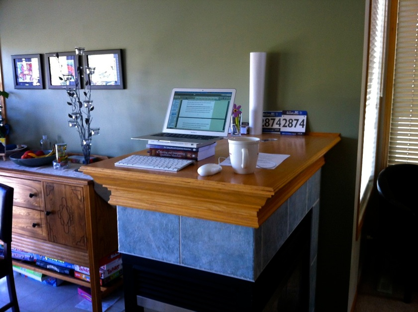standing desk, home edition
