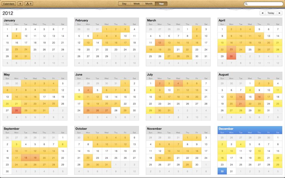 2012 ride calendar