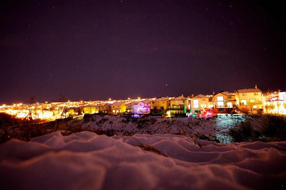 Winter coulee lights