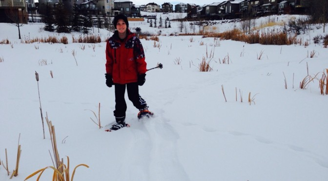Neighbourhood snowshoeing