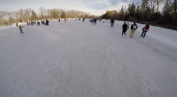 skating at bowness park pond