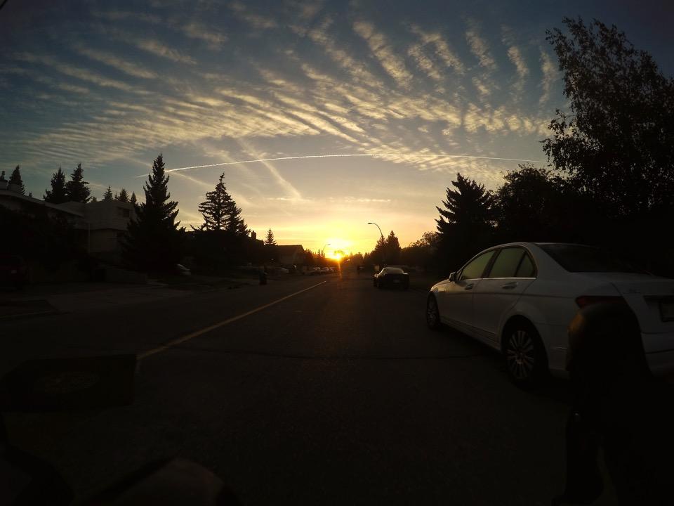 sunrise by bike