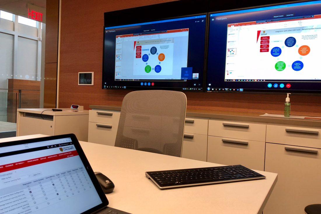 Skype meeting via DIY webconferencing room